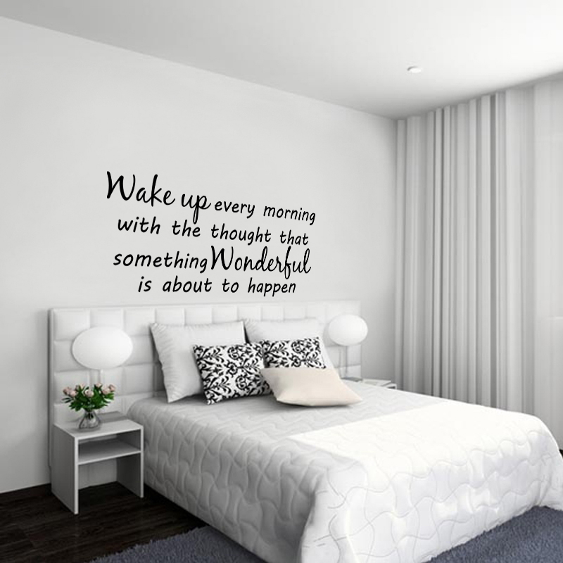 Stickers muraux citations sticker something wonderful ambiance - Citation pour chambre adulte ...