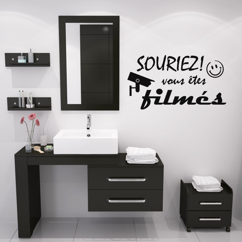 sticker souriez vous tes film s stickers professionnels stickers vitrine magasin ambiance. Black Bedroom Furniture Sets. Home Design Ideas