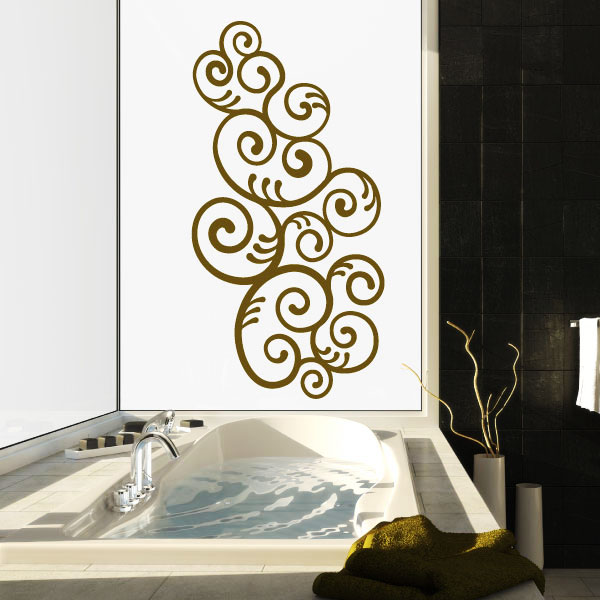 stickers avec des l ments en spirale. Black Bedroom Furniture Sets. Home Design Ideas