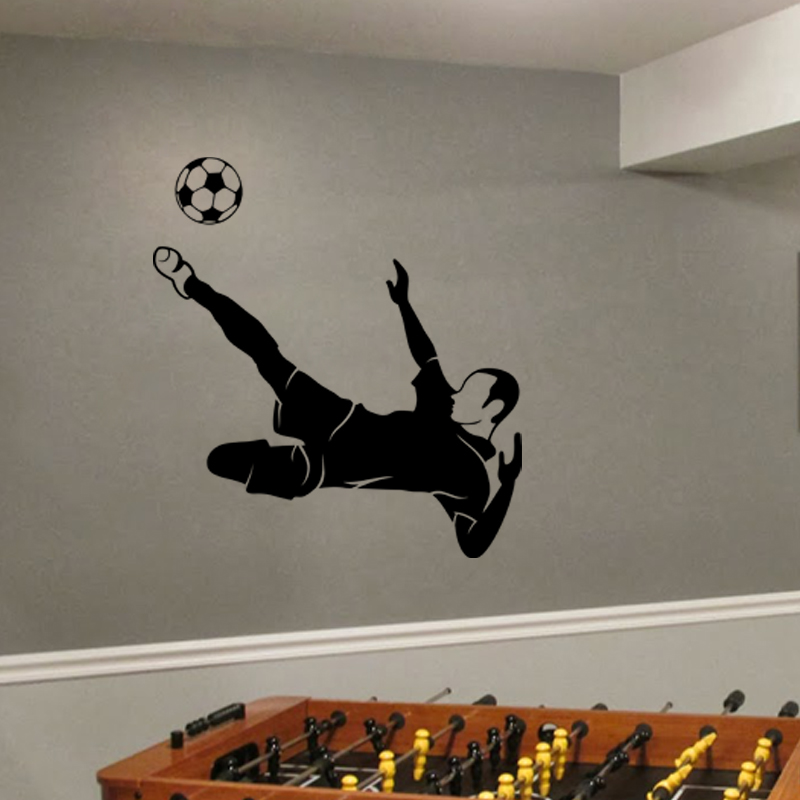 stickers sport et football sticker style football ambiance. Black Bedroom Furniture Sets. Home Design Ideas
