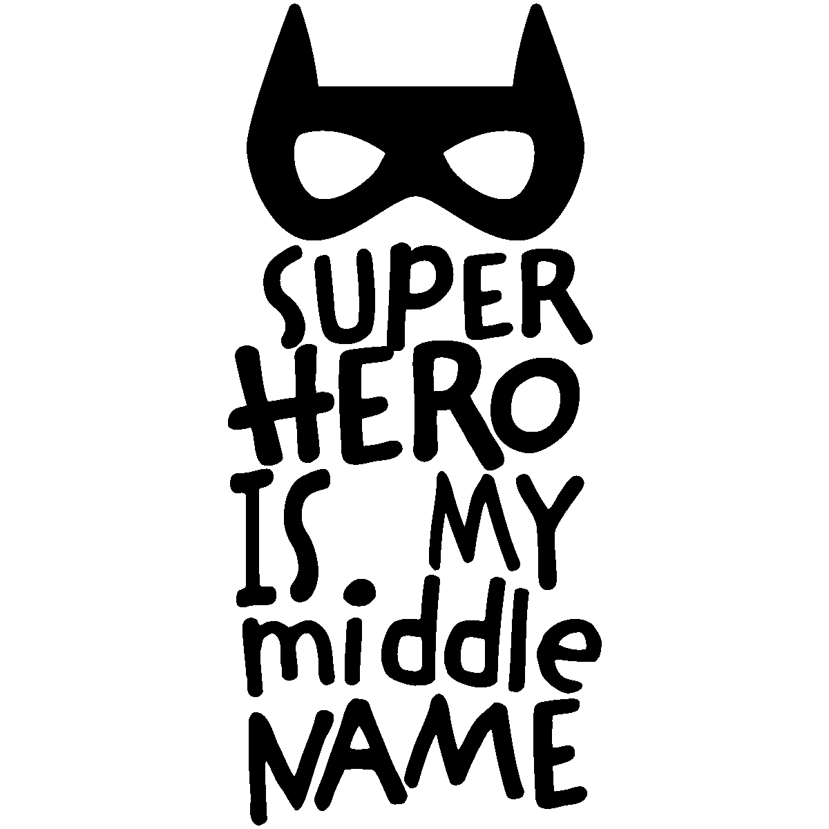 sticker superhero is my name gar ons stickers. Black Bedroom Furniture Sets. Home Design Ideas