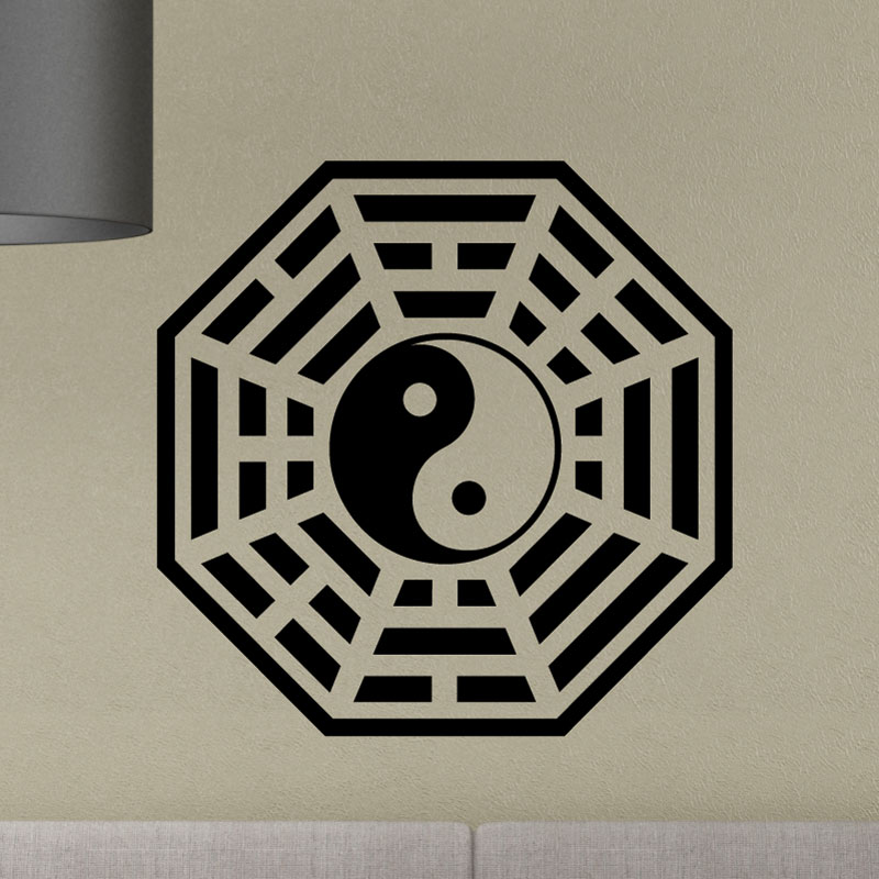 stickers muraux design sticker mural symbole tao ambiance. Black Bedroom Furniture Sets. Home Design Ideas