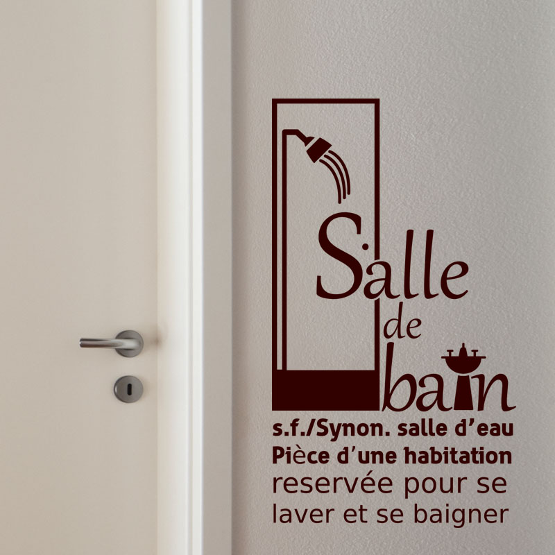 sticker synonyme salle de bain stickers salle de bain mur salle de bain ambiance sticker. Black Bedroom Furniture Sets. Home Design Ideas