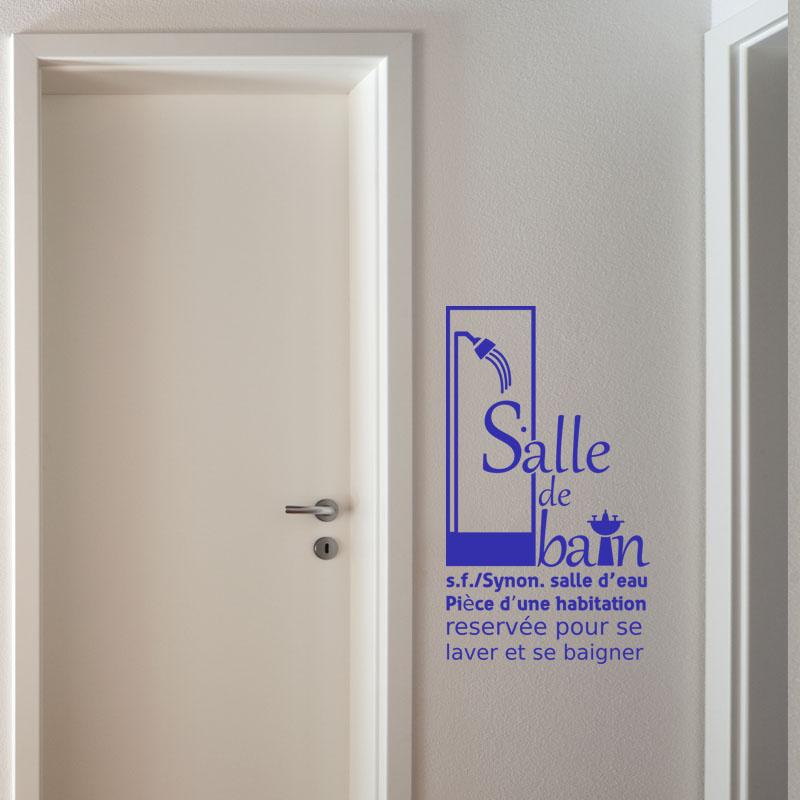 Sticker synonyme salle de bain stickers salle de bain - Synonyme de salle de bain ...
