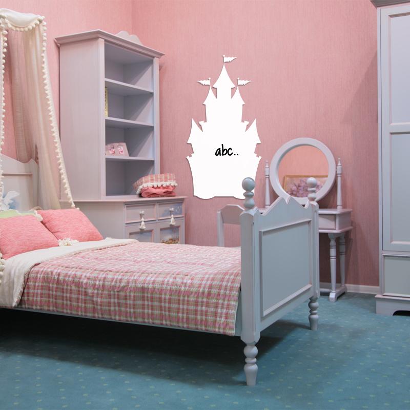sticker tableau blanc design ch teau filles princesse ambiance sticker. Black Bedroom Furniture Sets. Home Design Ideas
