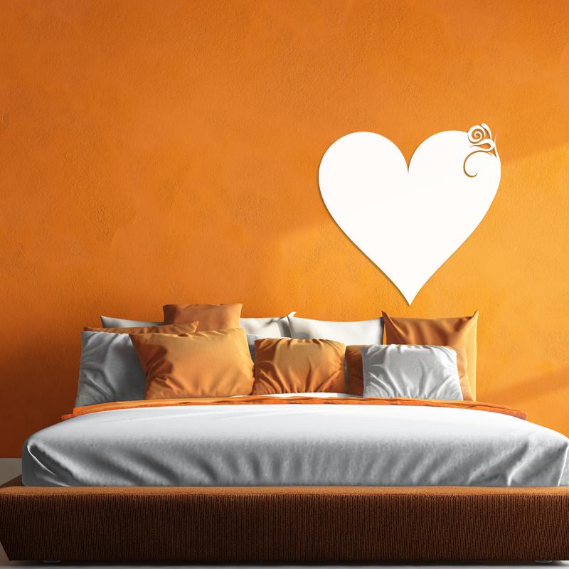 sticker tableau blanc design coeur classique filles tous les stickers filles ambiance sticker. Black Bedroom Furniture Sets. Home Design Ideas