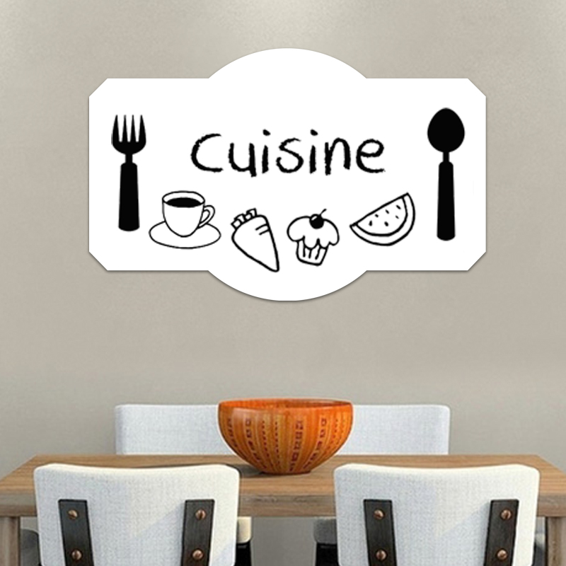 sticker tableau blanc design plateau de cuisine � stickers
