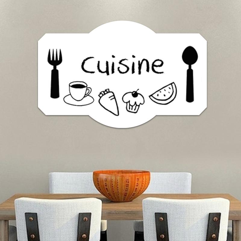 Sticker tableau blanc design plateau de cuisine stickers for Plateau cuisine design