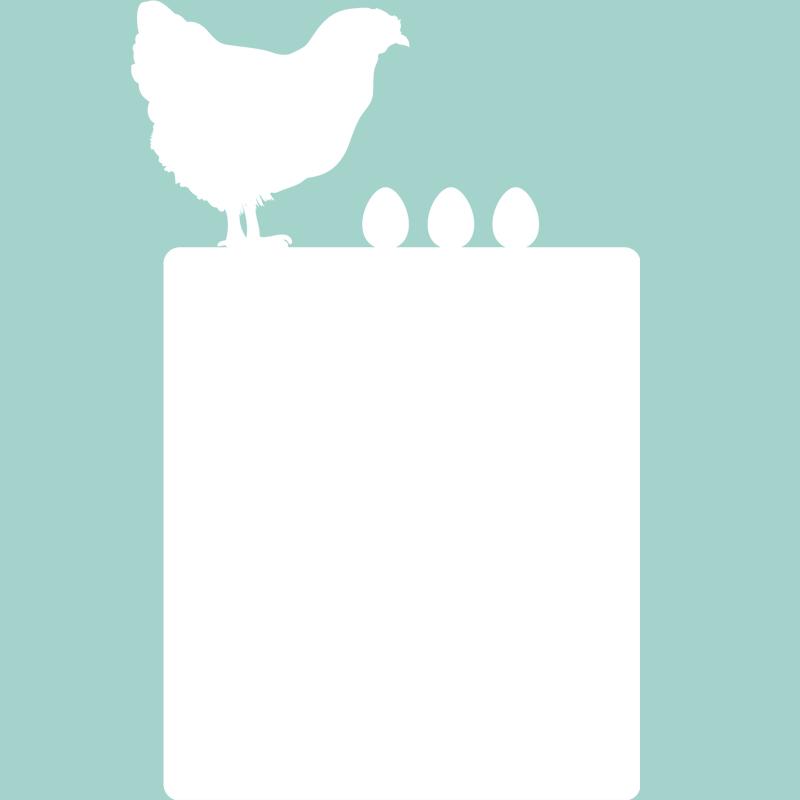 Sticker tableau blanc poule avec ses oeufs stickers for Tableau sur mur blanc