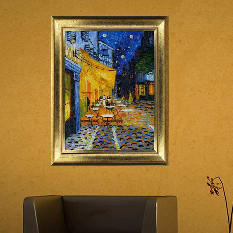 sticker tableau sticker tableau van gogh caf terrasse la nuit arles with tableau ponton ikea. Black Bedroom Furniture Sets. Home Design Ideas