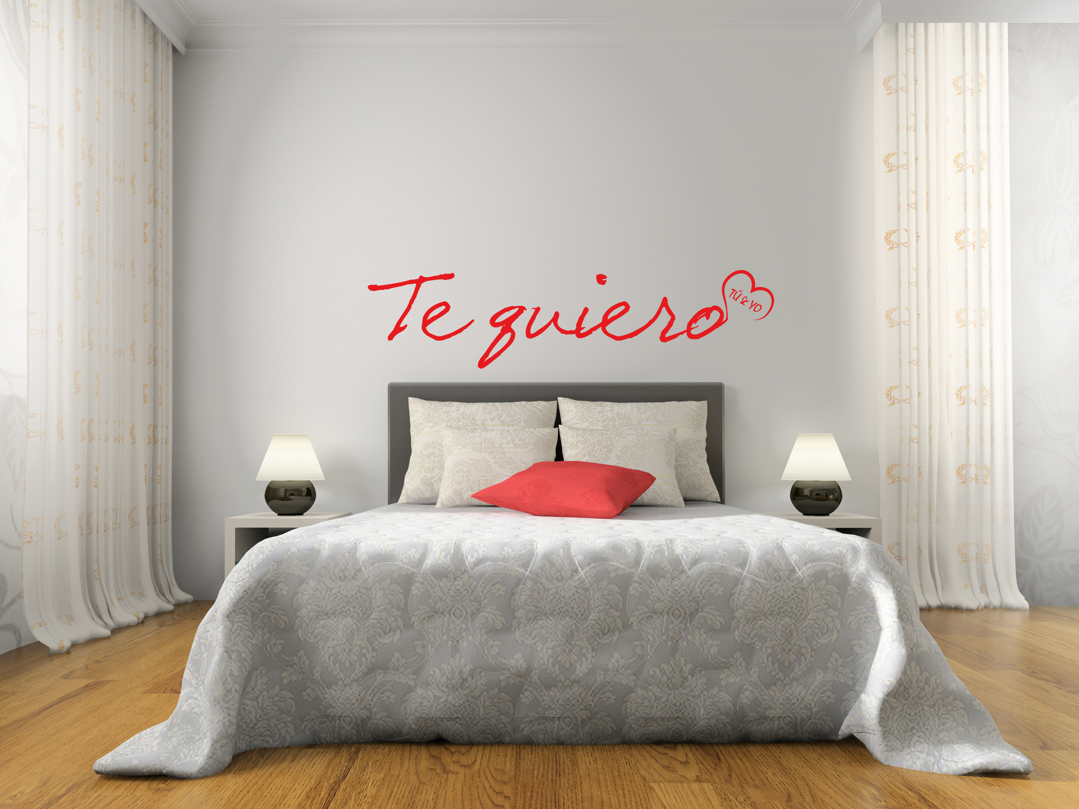 stickers muraux pour chambre sticker je t 39 aime ambiance. Black Bedroom Furniture Sets. Home Design Ideas