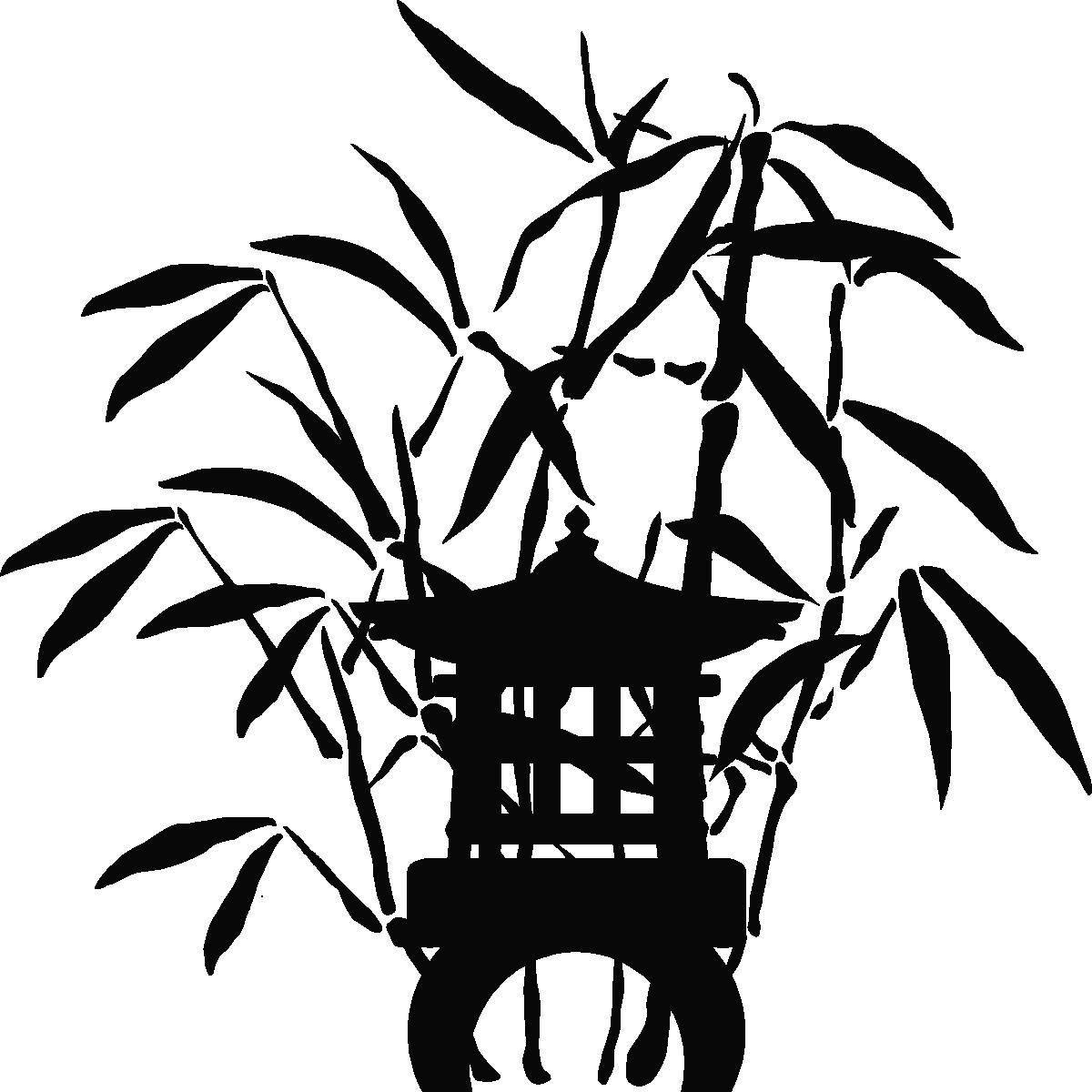 Stickers Muraux Zen Bambou Great Fleurs De Galets Zen Et Bambou