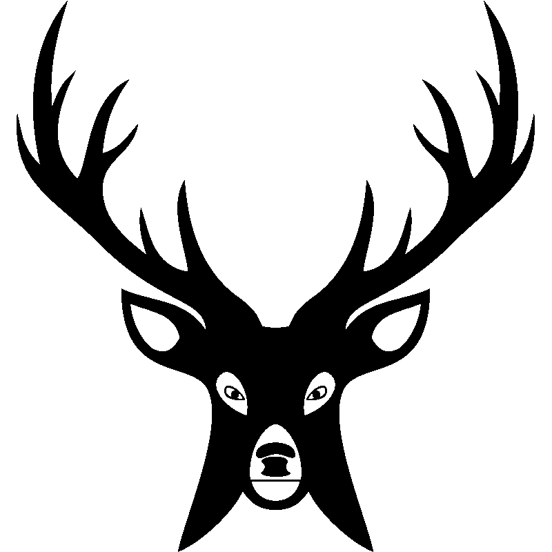 sticker t te de cerf en face stickers animaux animaux de la jungle ambiance sticker. Black Bedroom Furniture Sets. Home Design Ideas