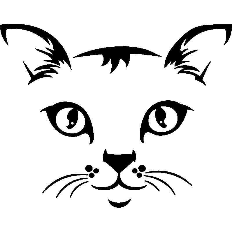sticker t te de chat stickers animaux animaux de la. Black Bedroom Furniture Sets. Home Design Ideas
