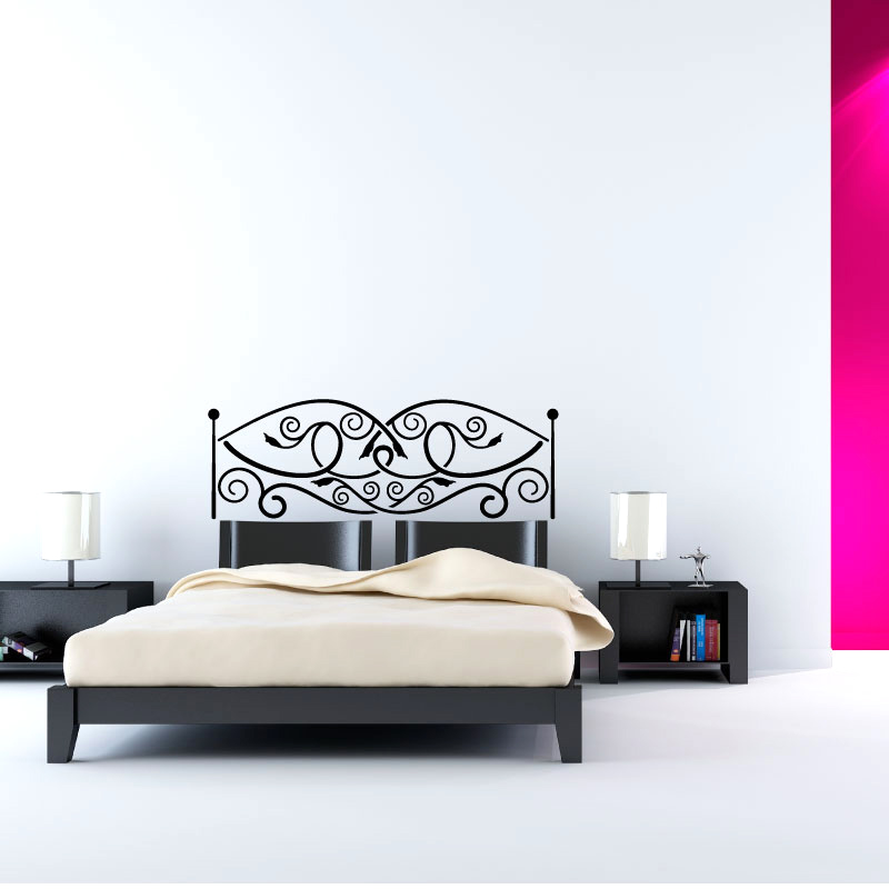 t te de lit en m tal ouvr stickers. Black Bedroom Furniture Sets. Home Design Ideas