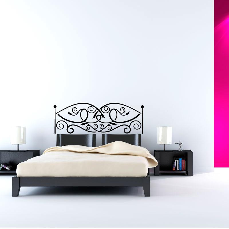 t te de lit en m tal ouvr stickers. Black Bedroom Furniture Sets. Home Design Ideas