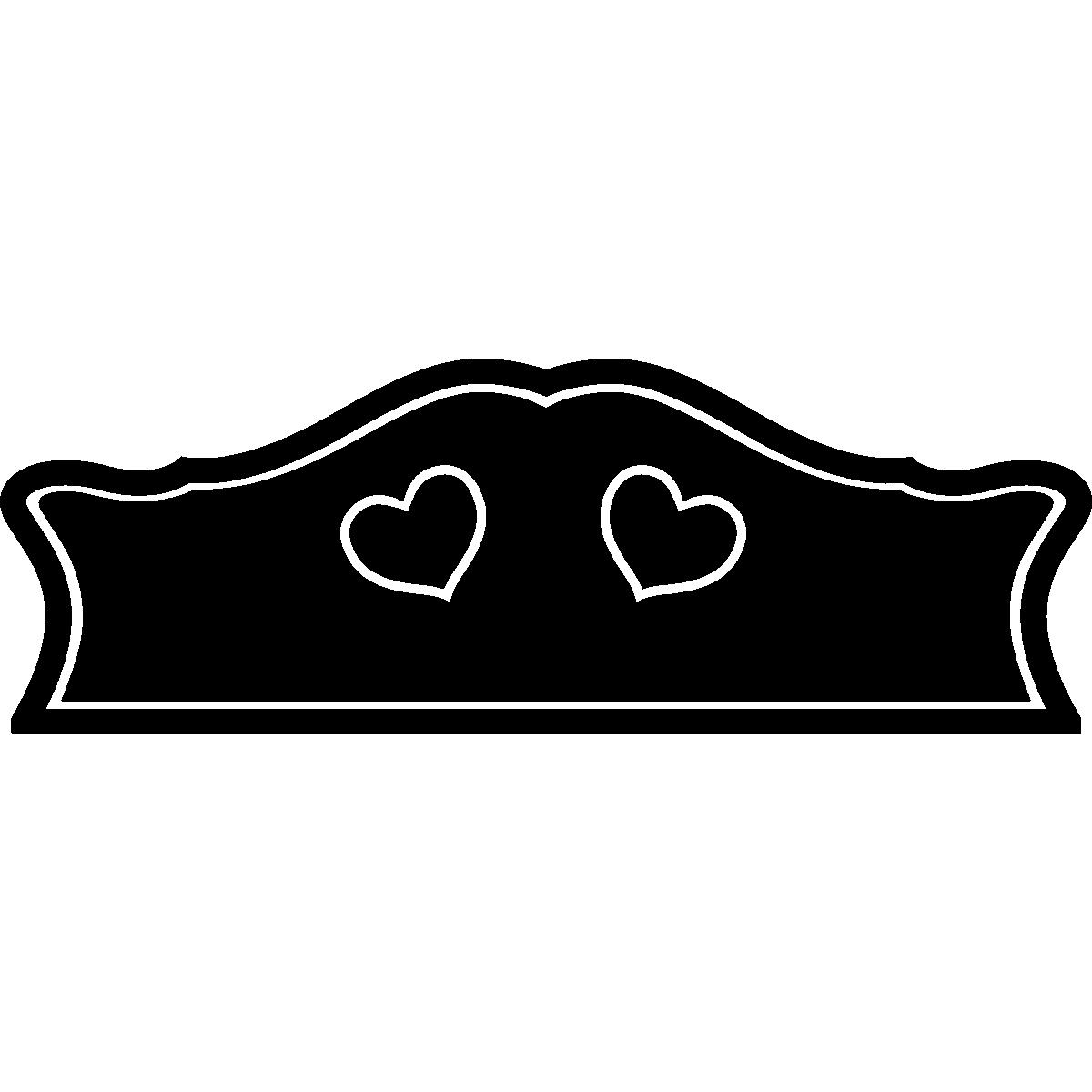 stickers muraux t tes de lit sticker mural t te de lit. Black Bedroom Furniture Sets. Home Design Ideas