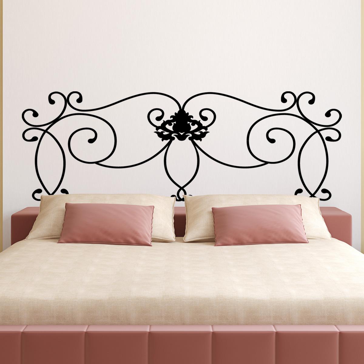 stickers muraux t tes de lit sticker mural motif ajour. Black Bedroom Furniture Sets. Home Design Ideas