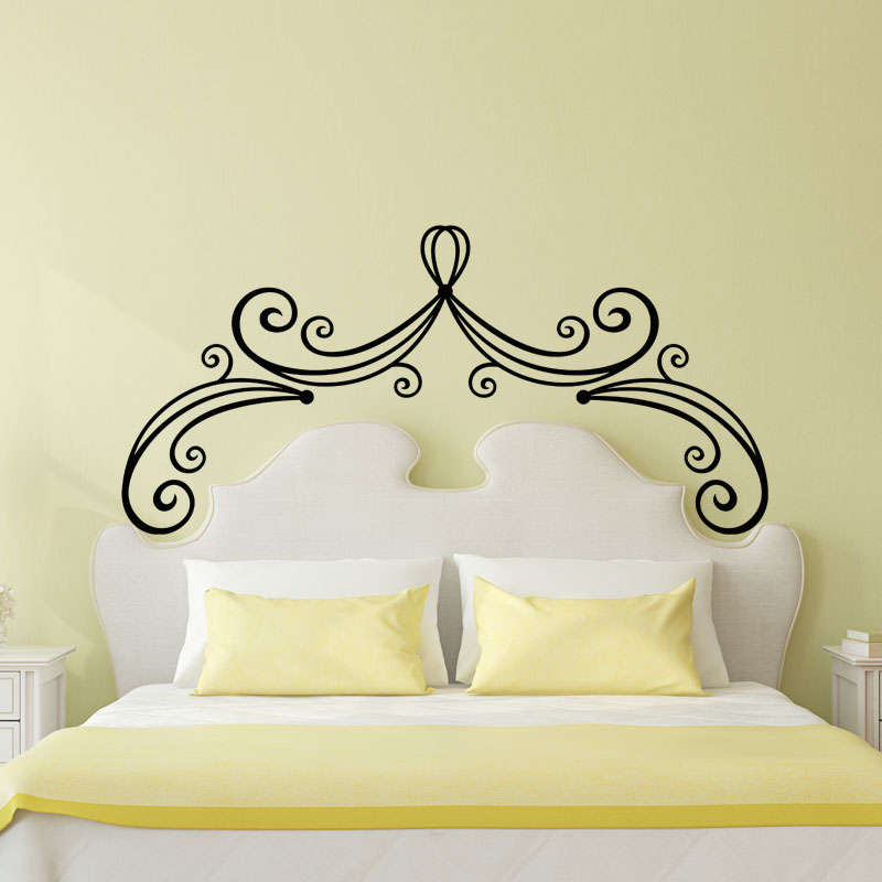 sticker t te de lit de princesse stickers chambre t tes. Black Bedroom Furniture Sets. Home Design Ideas