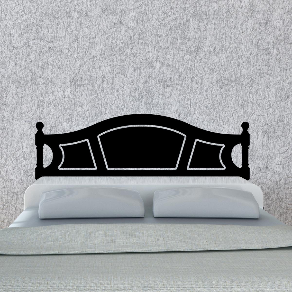stickers muraux t tes de lit sticker mural t te de lit en bois royal lit double ambiance. Black Bedroom Furniture Sets. Home Design Ideas