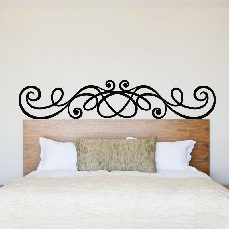 sticker t te de lit en boucle stickers chambre t tes de lit ambiance sticker. Black Bedroom Furniture Sets. Home Design Ideas