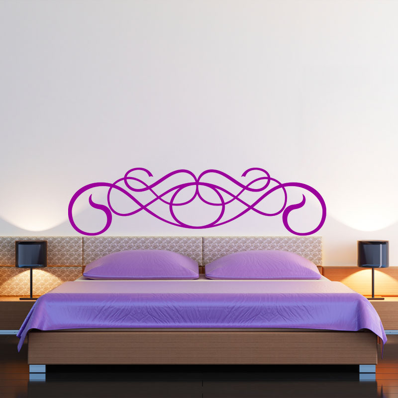 sticker t te de lit en forme de moustace stickers. Black Bedroom Furniture Sets. Home Design Ideas