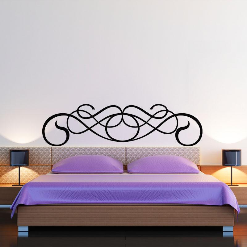 sticker t te de lit en forme de moustace stickers chambre t tes de lit ambiance sticker. Black Bedroom Furniture Sets. Home Design Ideas