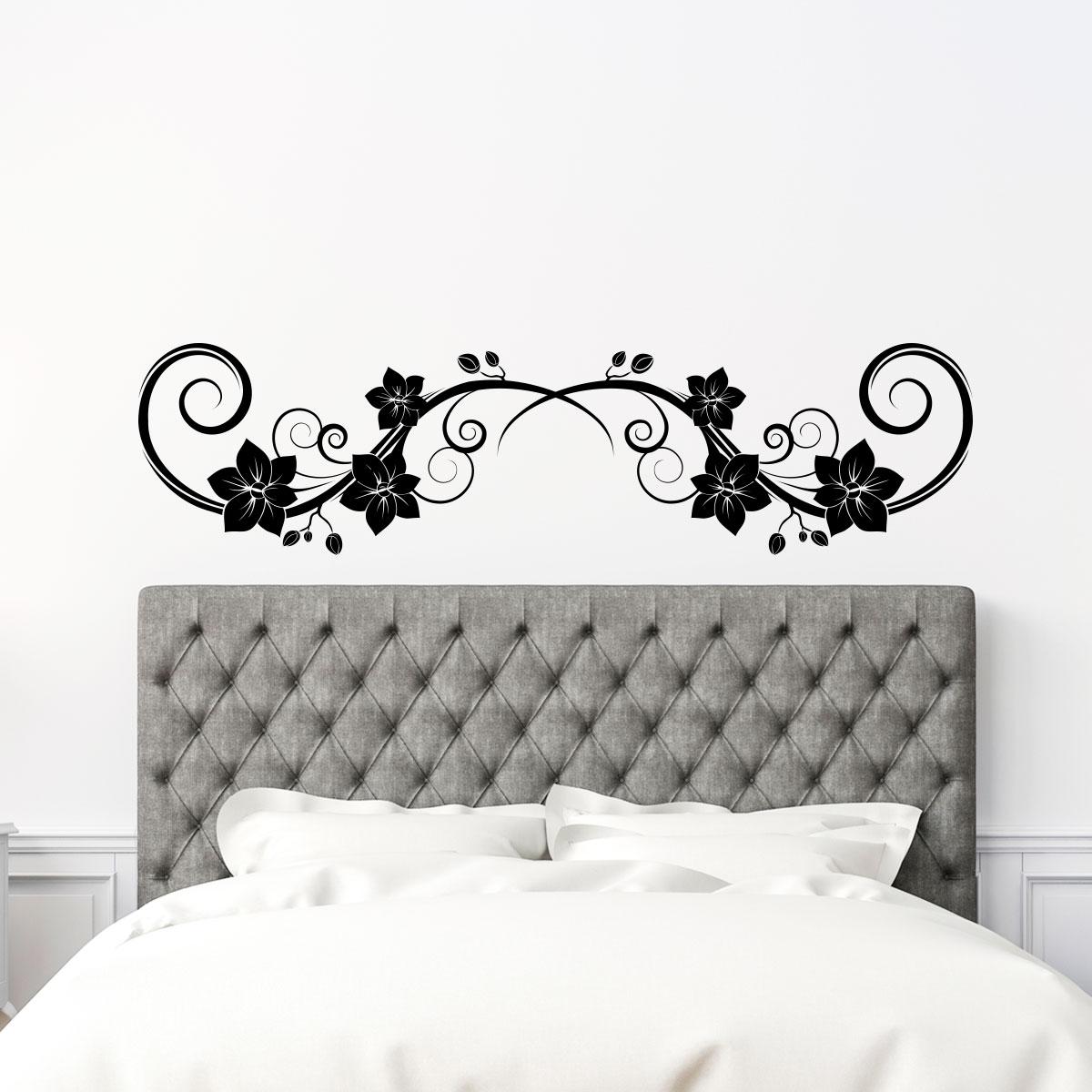 sticker t te de lit orchid es stickers chambre t tes de lit ambiance sticker. Black Bedroom Furniture Sets. Home Design Ideas