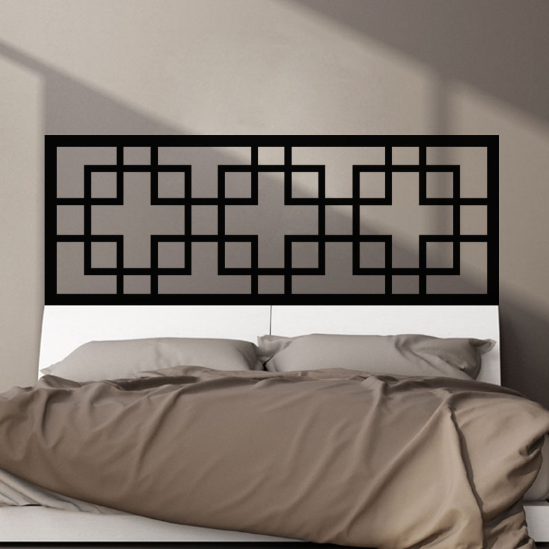 sticker t te de lit rectangulaire stickers chambre t tes de lit ambiance sticker. Black Bedroom Furniture Sets. Home Design Ideas