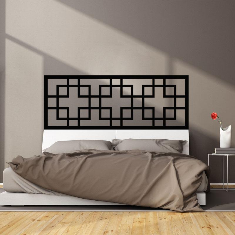 sticker t te de lit rectangulaire stickers chambre t tes de lit ambiance sticker. Black Bedroom Furniture Sets. Home Design Ideas