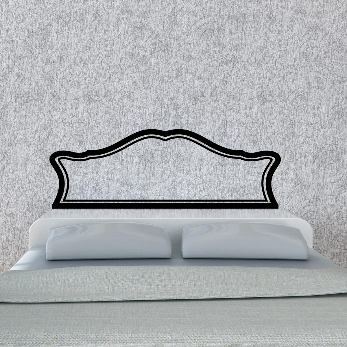 stickers muraux t tes de lit sticker mural t te de lit royal lit double ambiance. Black Bedroom Furniture Sets. Home Design Ideas
