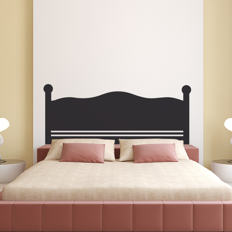 stickers muraux pour chambre sticker mural t te de lit simple ambiance. Black Bedroom Furniture Sets. Home Design Ideas