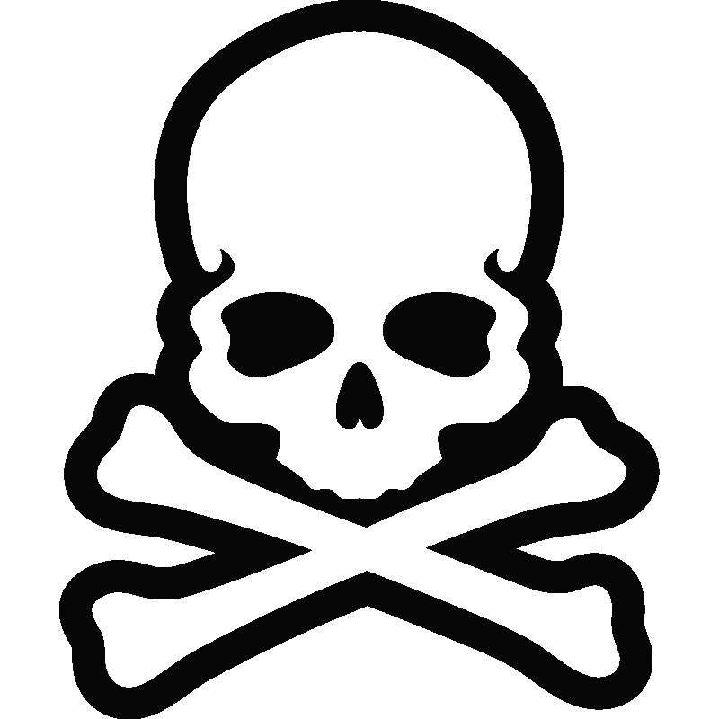 Sticker t te de mort os stickers d co enfants - Tete de pirate dessin ...