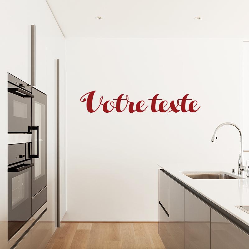 sticker texte personnalisable calligraphie artistique. Black Bedroom Furniture Sets. Home Design Ideas