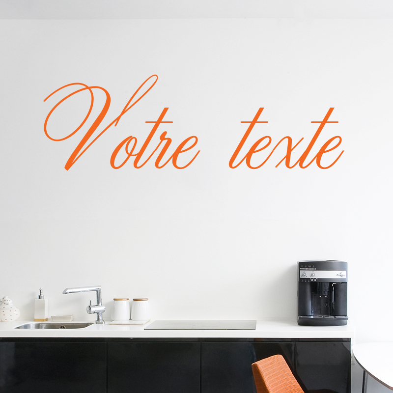 sticker texte personnalisable calligraphie chic stickers. Black Bedroom Furniture Sets. Home Design Ideas