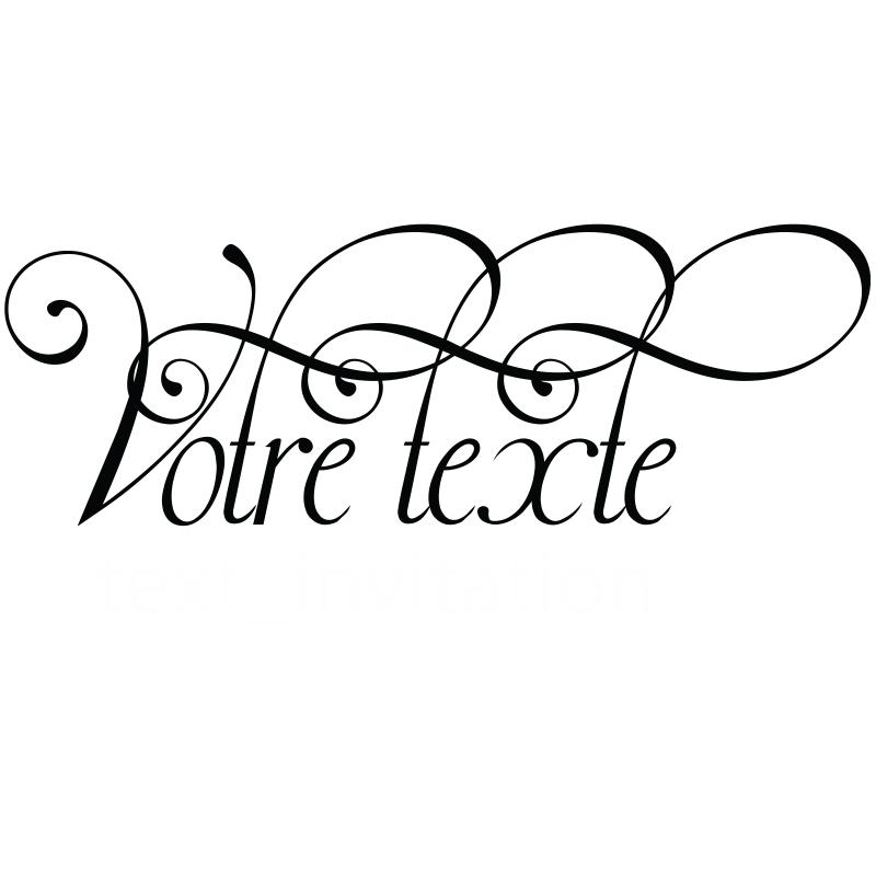 sticker texte personnalisable calligraphie l gante. Black Bedroom Furniture Sets. Home Design Ideas