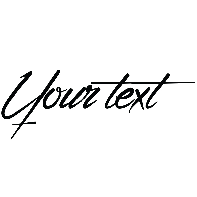 sticker texte personnalisable calligraphie urbaine. Black Bedroom Furniture Sets. Home Design Ideas