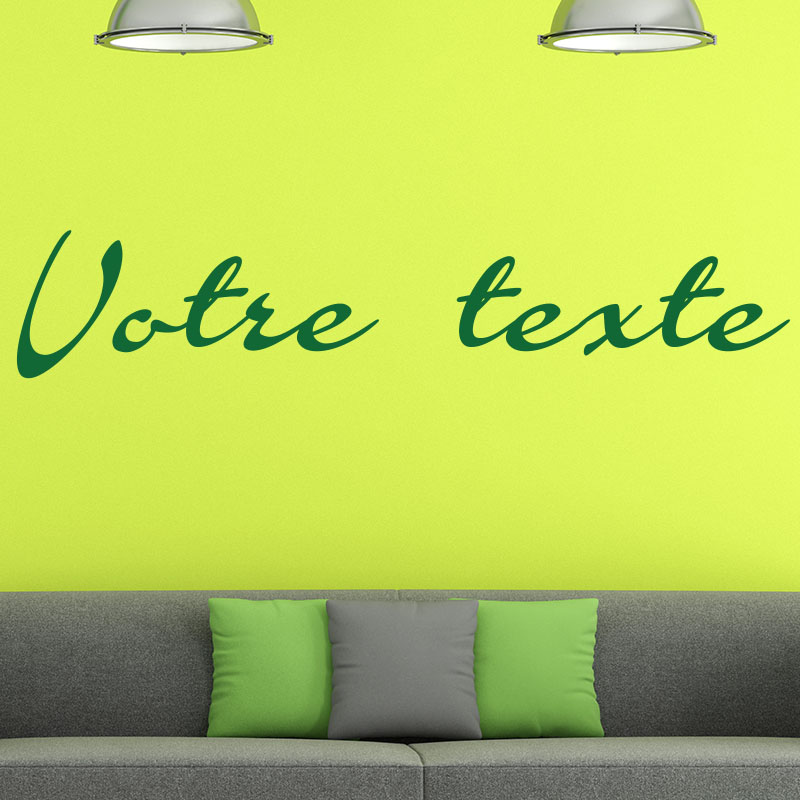 sticker texte personnalisable calligraphie vintage. Black Bedroom Furniture Sets. Home Design Ideas
