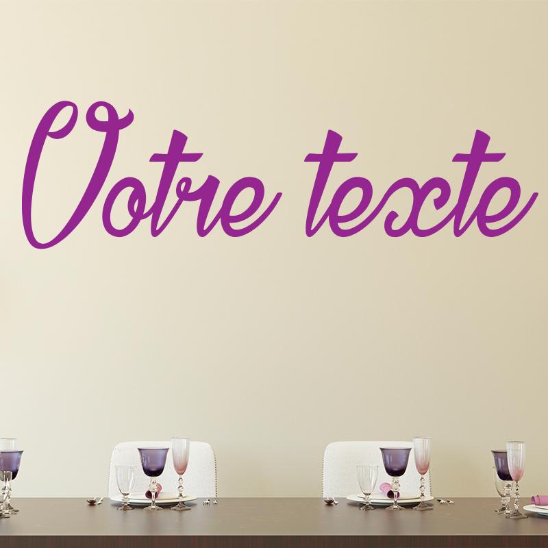 sticker texte personnalis calligraphie fun stickers. Black Bedroom Furniture Sets. Home Design Ideas