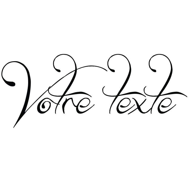 sticker texte personnalis calligraphie love stickers. Black Bedroom Furniture Sets. Home Design Ideas