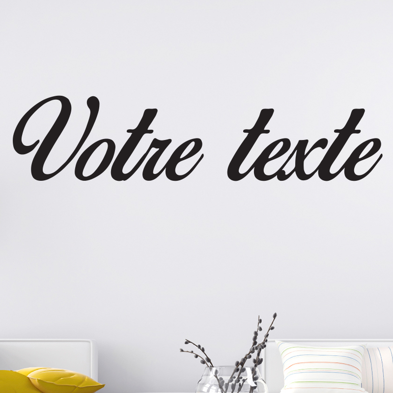 sticker texte personnalis calligraphie romantique. Black Bedroom Furniture Sets. Home Design Ideas