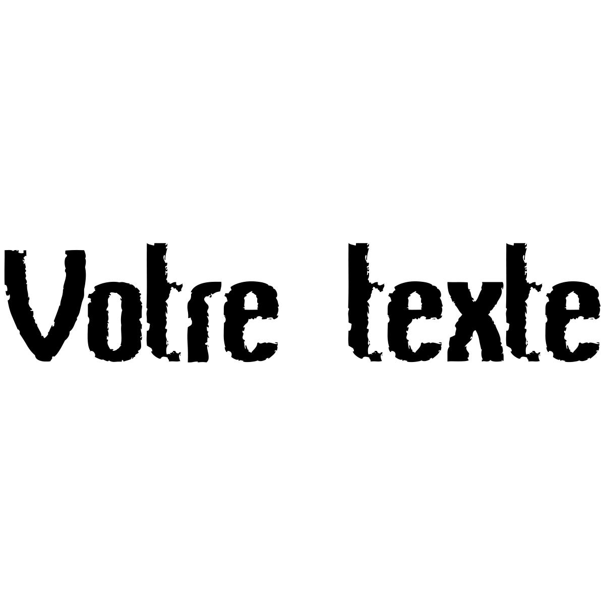 sticker texte personnalis marqu par le temps stickers. Black Bedroom Furniture Sets. Home Design Ideas