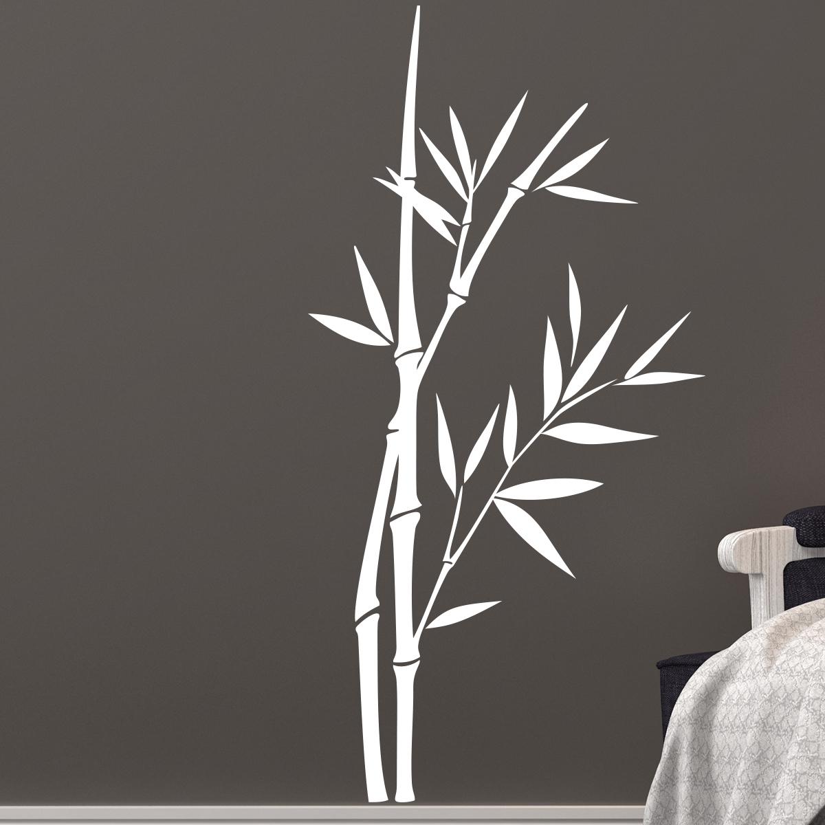 Sticker Tiges De Bambous Crois Es Stickers Nature Feuilles