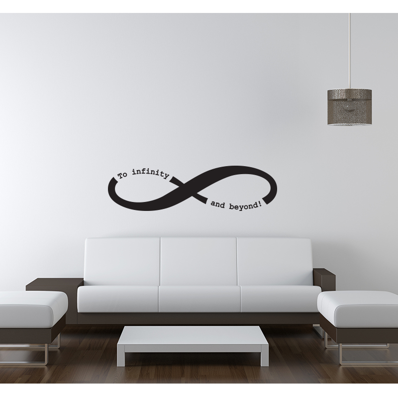 stickers texte infinity stickers muraux citations. Black Bedroom Furniture Sets. Home Design Ideas