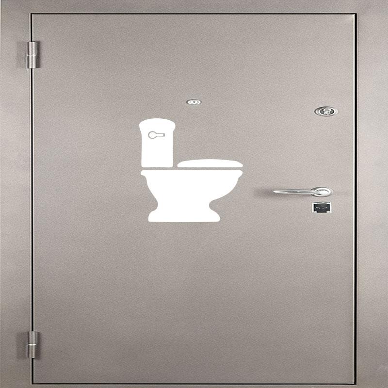 sticker toilettes cuvette de wc stickers toilettes porte. Black Bedroom Furniture Sets. Home Design Ideas