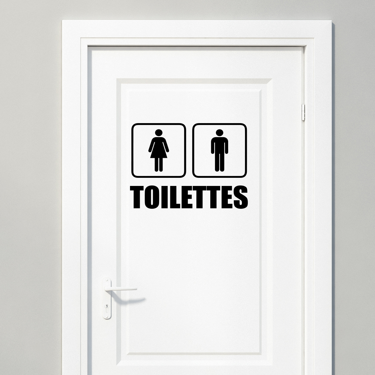Sticker toilettes homme femme stickers toilettes porte for Stickers pour porte toilettes