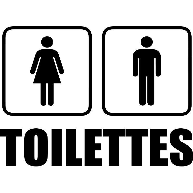 Sticker toilettes homme femme stickers toilettes porte for Porte wc dessin