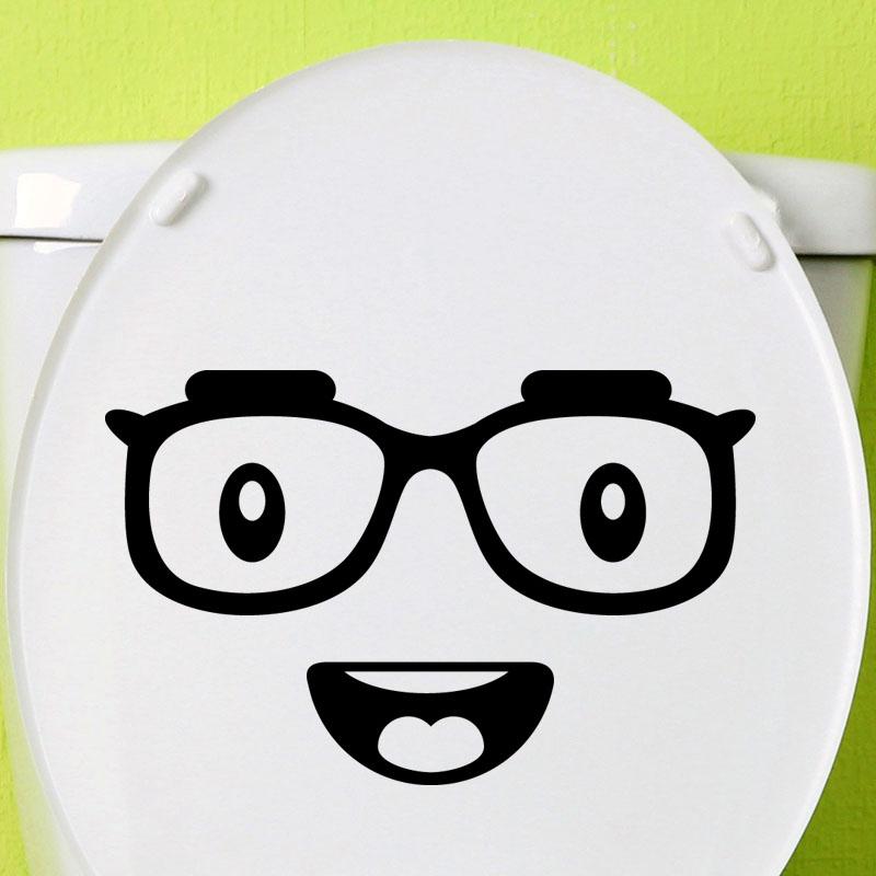 Sticker toilettes Smiley avec des lunettes – Stickers STICKERS ENFANTS Smiley