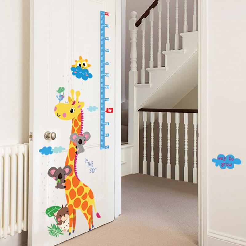 Sticker toise girafe et koalas stickers animaux animaux d 39 afrique ambiance sticker - Stickers koala chambre bebe ...