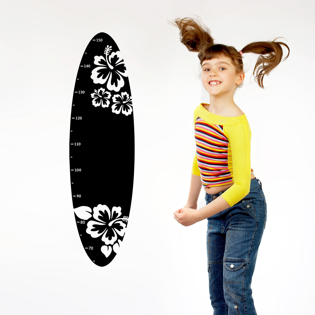 stickers muraux pour les enfants sticker toise planche. Black Bedroom Furniture Sets. Home Design Ideas